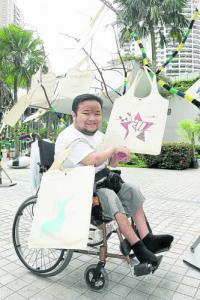 張志偉與合伙人設計的作品,參加了環保袋設計比賽。(圖:光明日報)